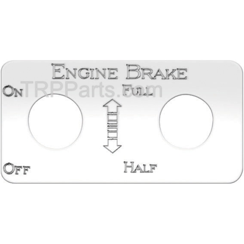 SWITCH PLATE - STAINLESS STEEL - FOR ENGINE BRAKE (FULL, HALF)
